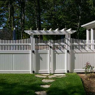 Pergola Top Arbor With Scalloped Colonial Accent Top