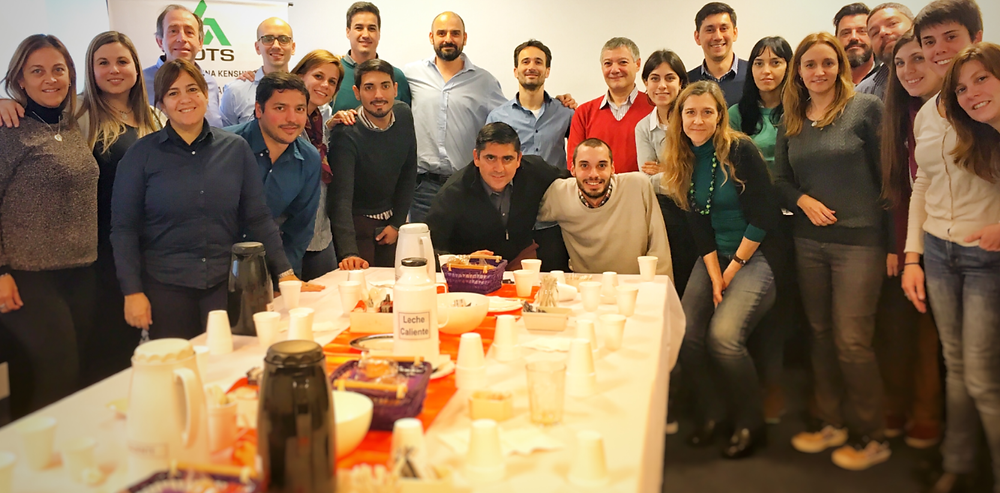 Participantes del curso junto a Alejandro Macri