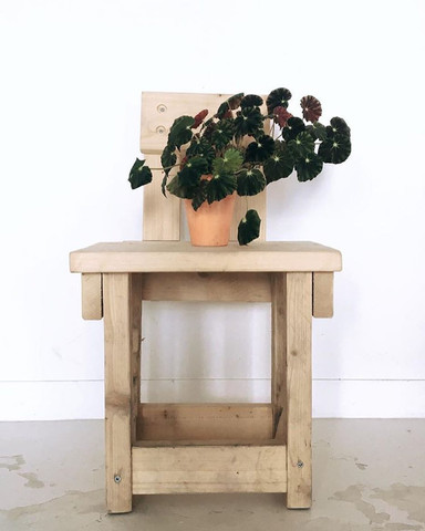 Chair made of off-cuts