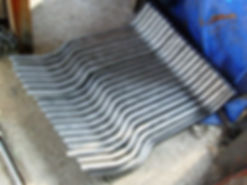 Example of pipe bending used in for furnace bellows