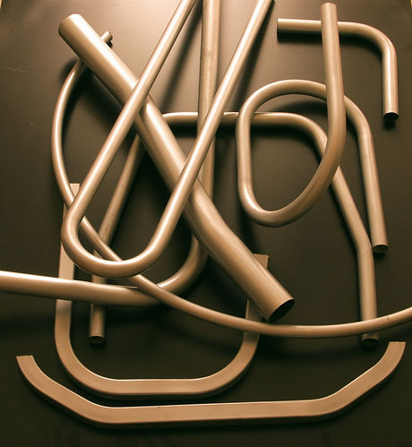 Various tube bending, pipe bending, ring rolling and section rolling examples manufactured by Allben