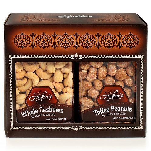 Nuts Gift Box (2 Pack) Toffee Peanuts & Cashews R/S