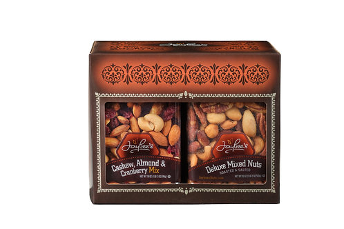 Cashew, Almond, Cranberry Mix & Deluxe Mixed Nuts - Nuts Gift Box (2 Pack)