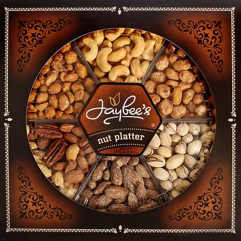 Nuts Gift Basket (6 section) Featuring Smoked Flavored Almonds