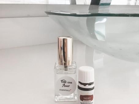 DYI Spray para limpeza das mãos - Sinergia 4 Ladrões