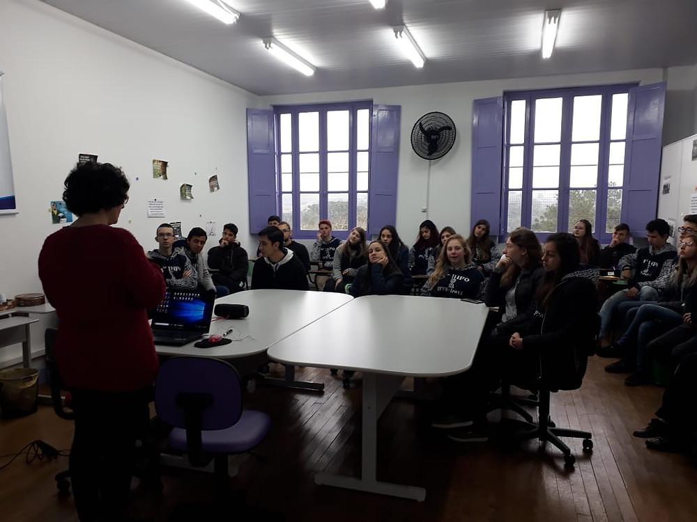 Recepção dos alunos do IFPR Campus Irati