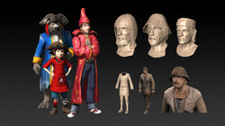 different 3d characters