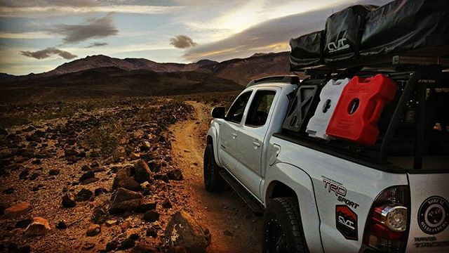 #toyota #trd #trailrunning #tacoma #deathvalley #desert #campiswhereyouparkit #yotalife