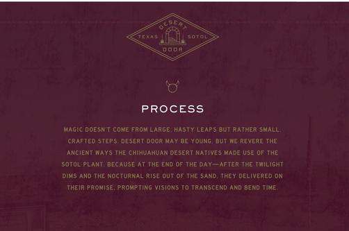 Desert Door Process