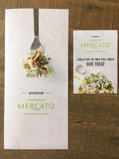 Mercato Hand-Held Menu and Promo Insert