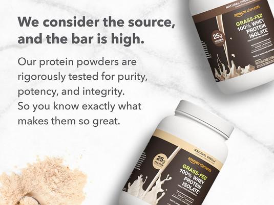 Amazon Elements Protein Powders