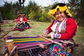 Quechua women are considered master weavers
