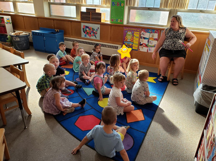 Circle time with Mrs. Yother