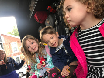We can fit a lot of friends in a fire truck!