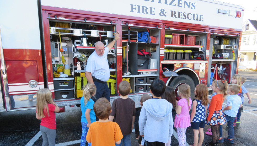 Learning about the fire truck