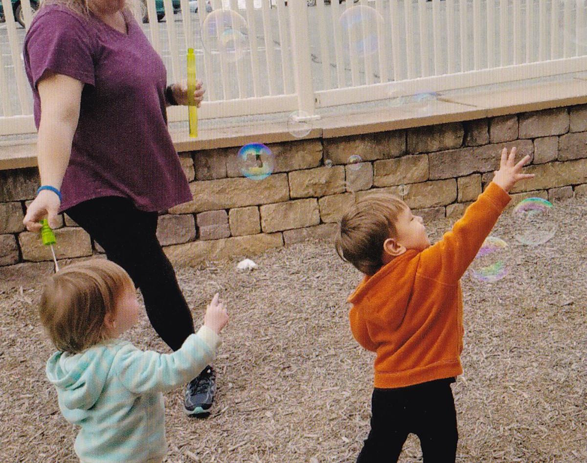 Blowing bubbles!