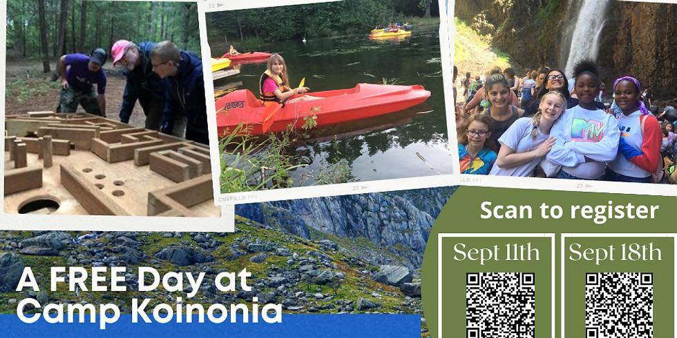 A FREE Day at Camp Koinonia