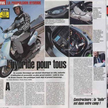 1er essaie moto revue du scooter hybride