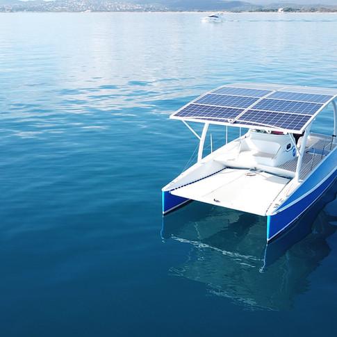 catamaran electrique solaire