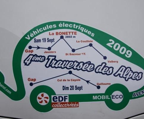 traversée des Alpes electrique 2009