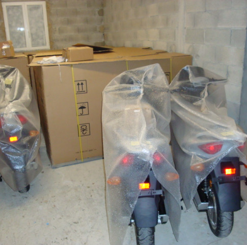 stock scooter electrique