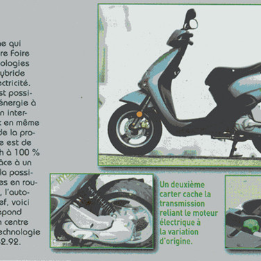 Scooter hybride média