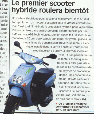 Science et vie Scooter Hybride