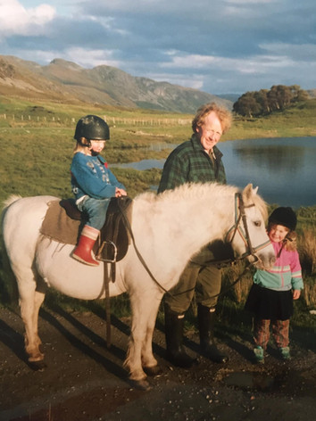 Horse riding by Loch Achall