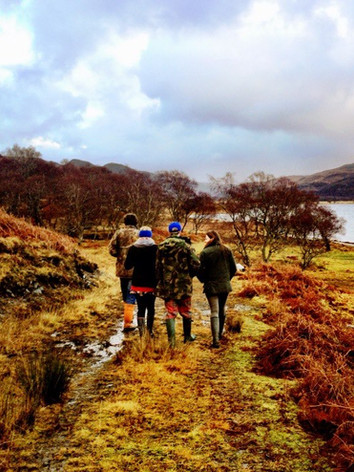 View down Loch Achall
