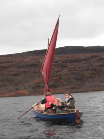 Sailing on Loch Achall