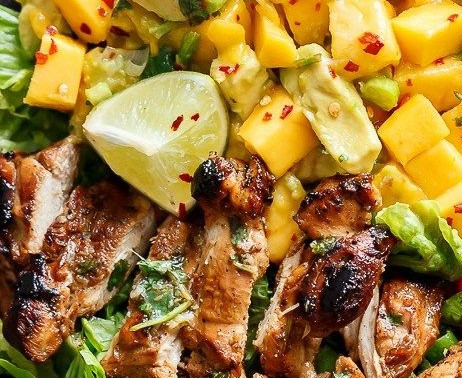 Chicken Salad with Avocado and Mango