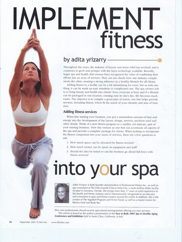 Skin Magazine Implement Fitness Article