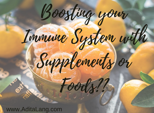Boosting your Immune System with Supplements or Food?