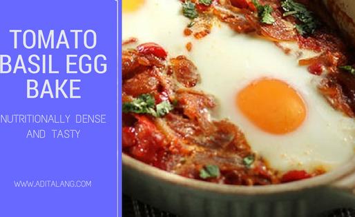 Tomato Basil Egg Bake