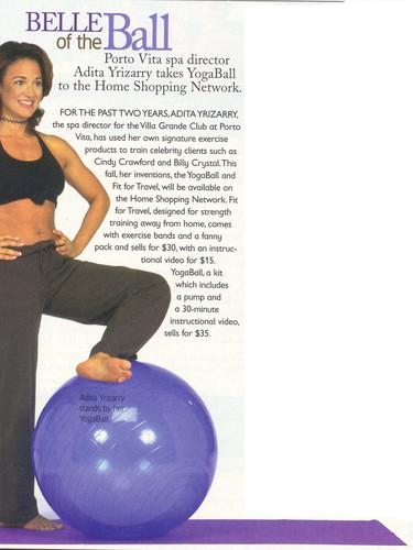 Channels Magazine feature on YogaBall an