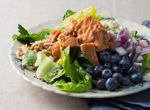 Wild Salmon and Blueberry Salad