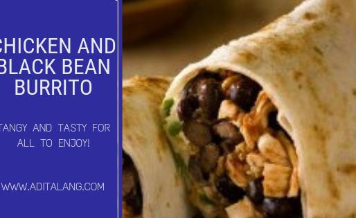 BarBQ Chicken and Black Bean Burrito