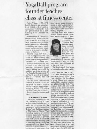 Kerville Newspaper Featuring Adita Yriza