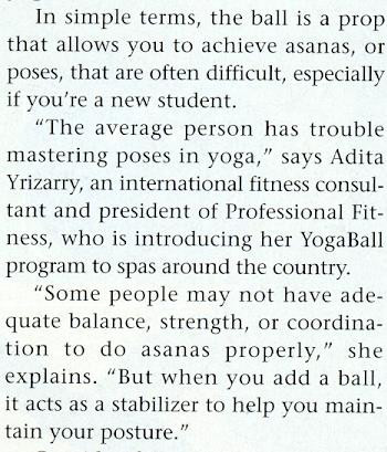 Spa Magazine feature on YogaBall and Adi