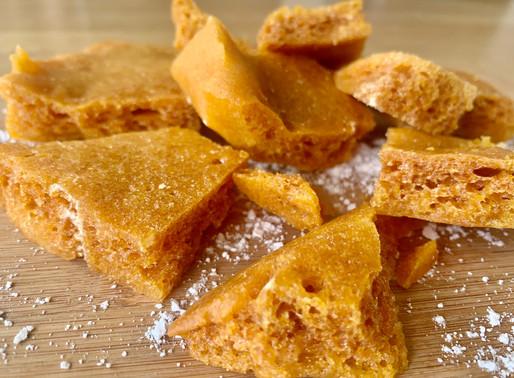 3 Ingredient Homemade Honeycomb!