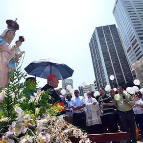 Terço pela Paz reuniu fiéis no centro do Rio