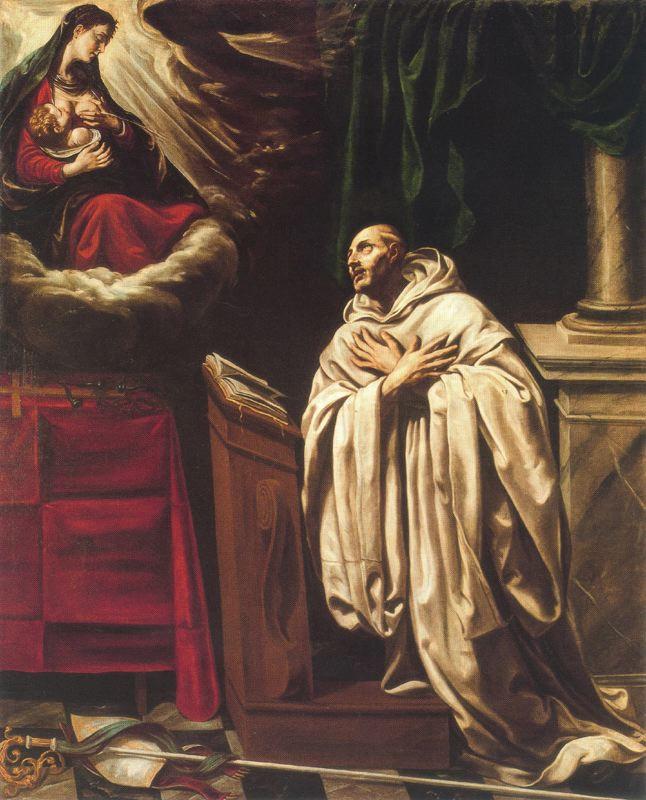 Virgem Maria e São Bernardo