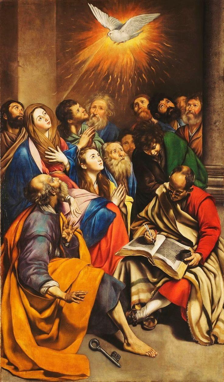 Vinda do Espírito Santo sobre os apóstolos e Maria Santíssima
