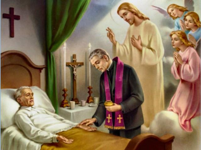 Devem ser ajudados pela oração dos que lhes são mais próximos. Estes velarão por que os doentes recebam, em tempo oportuno, os sacramentos que os preparam para o encontro com o Deus vivo