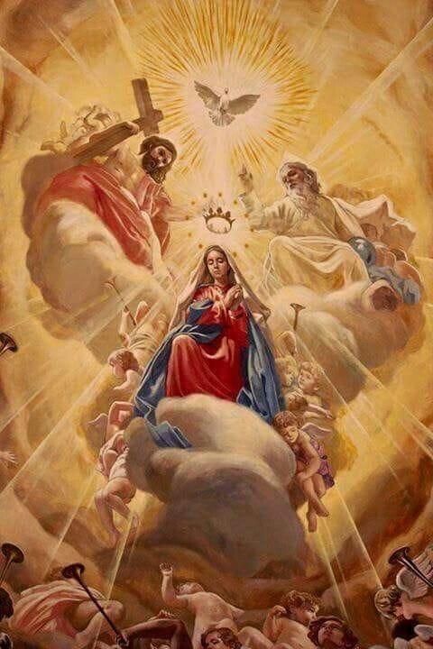 Coroação de Nossa Senhora no Céu, como Rainha de todos os anjos e santos