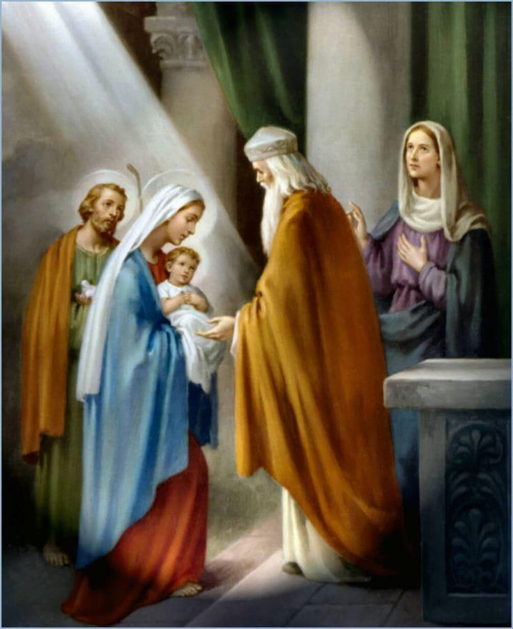 Apresentação do menino Jesus e a purificação de Maria