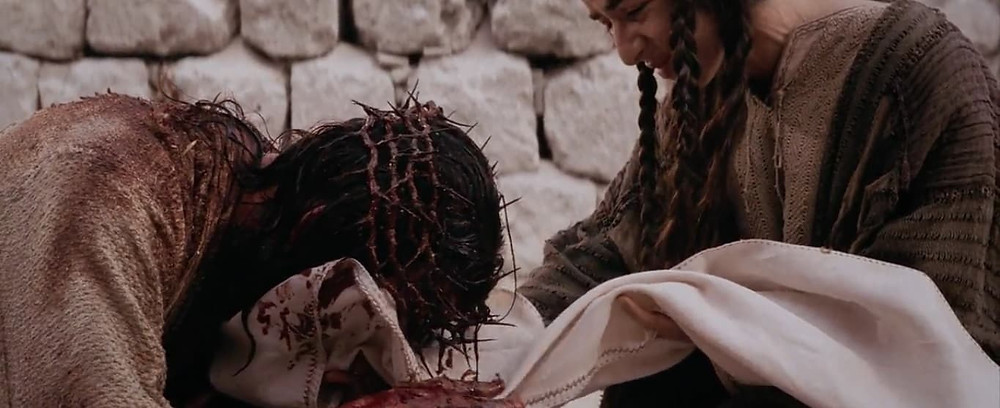 6ª estação: Verônica enxuga o rosto de Jesus