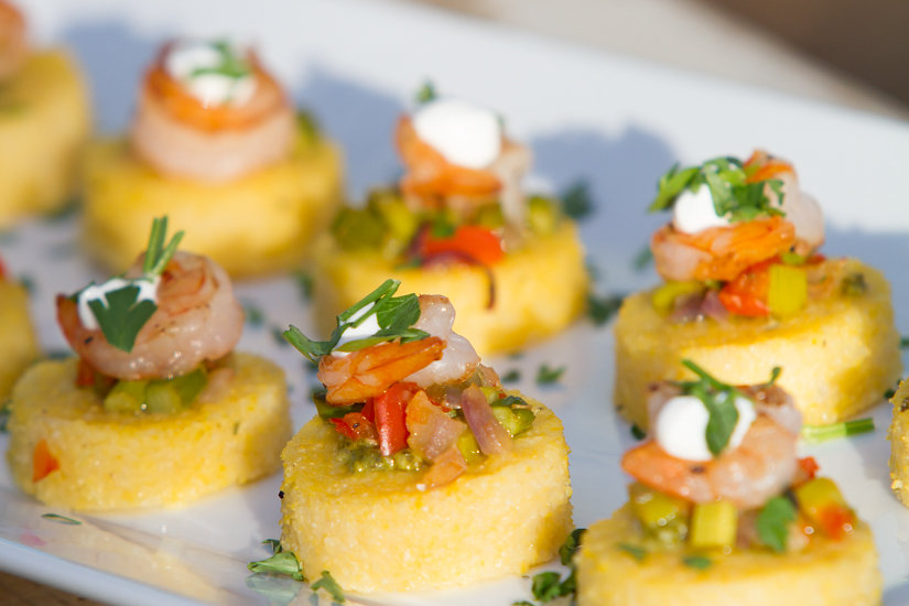 Polenta and Shrimp Appetizer