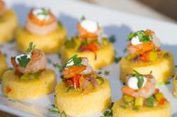 Polenta and Shrimp Appetizer