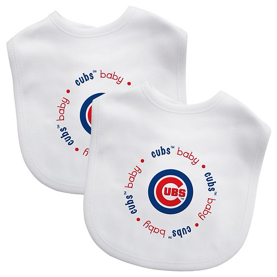 Baby Fanatics MLB Chicago Cubs 2-Pack Bibs
